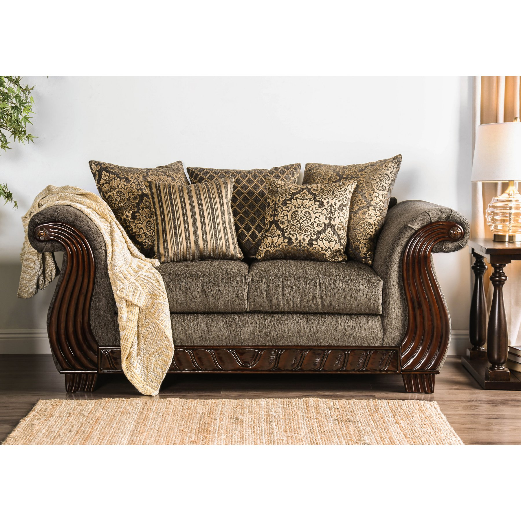 Furniture Of America Mitchell Traditional Loveseat  Idf 6211 Lv