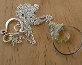 Lemon quartz drop necklace  www.talaserinese.etsy.com