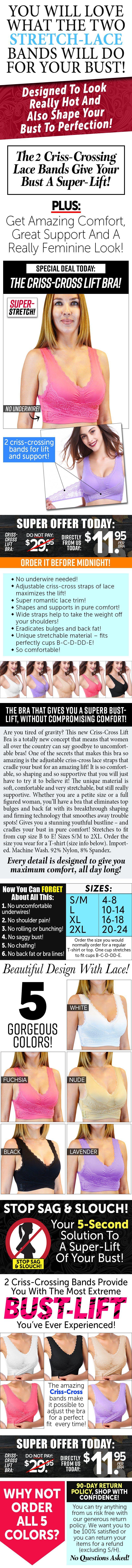 cfd4a8a23 Criss-Cross Lift Bra Deal – Primo Comfort
