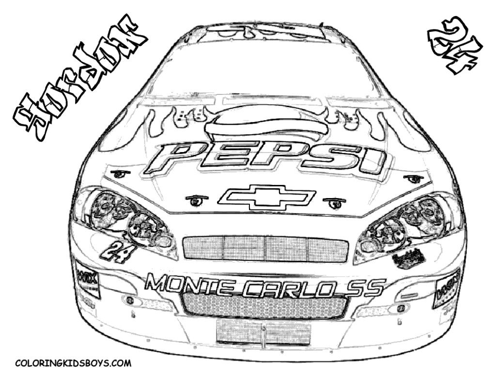 Nascar Coloring Pages Jeff Gordon