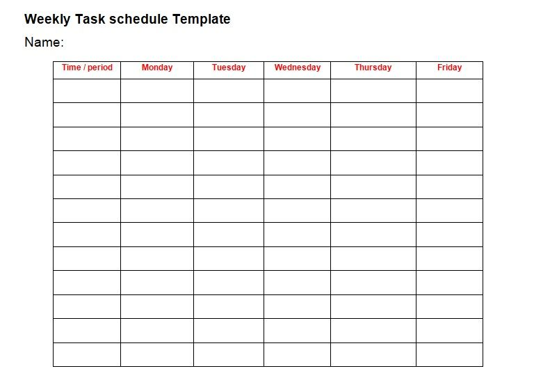 Professional Daily Task List Template   exceltmp