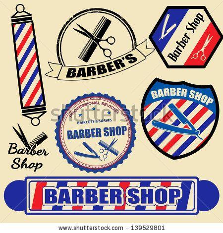 Modern Barbershop logo in retro style | Men's Buns & Beards ...