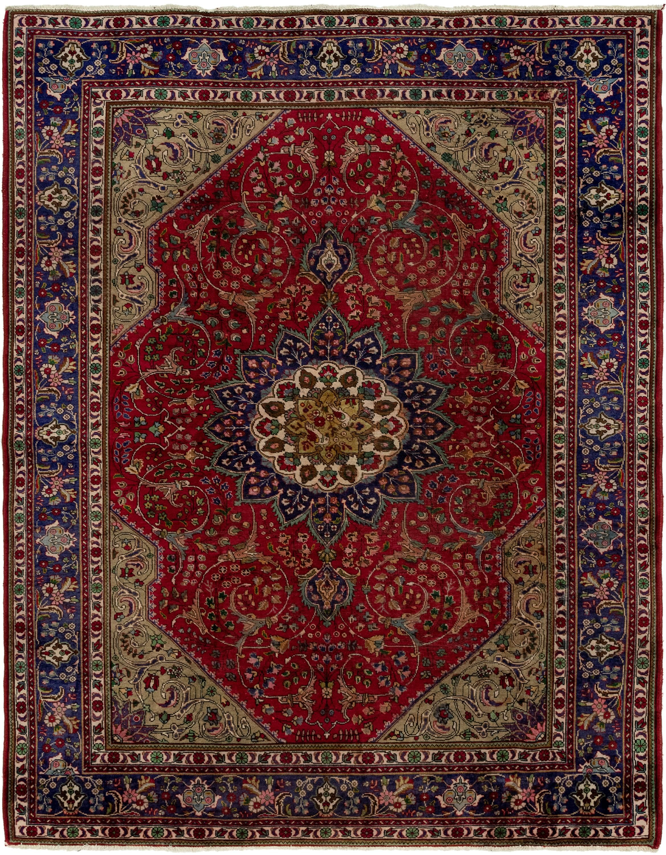 Red 8 4 X 10 10 Tabriz Persian Rug Affiliate Red Tabriz Rug Persian Sponsored Persian Rug Farmhouse Style House Rugs