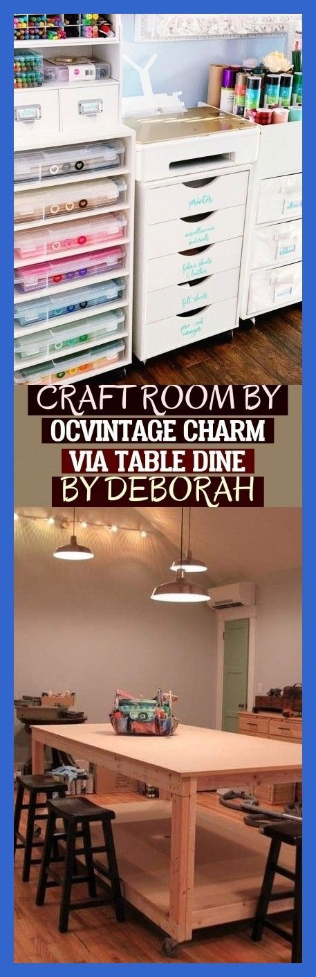 Photo of More Than 44 Craft Room By Ocvintage Charm Via Table Dine By Deborah ; #craftroo…