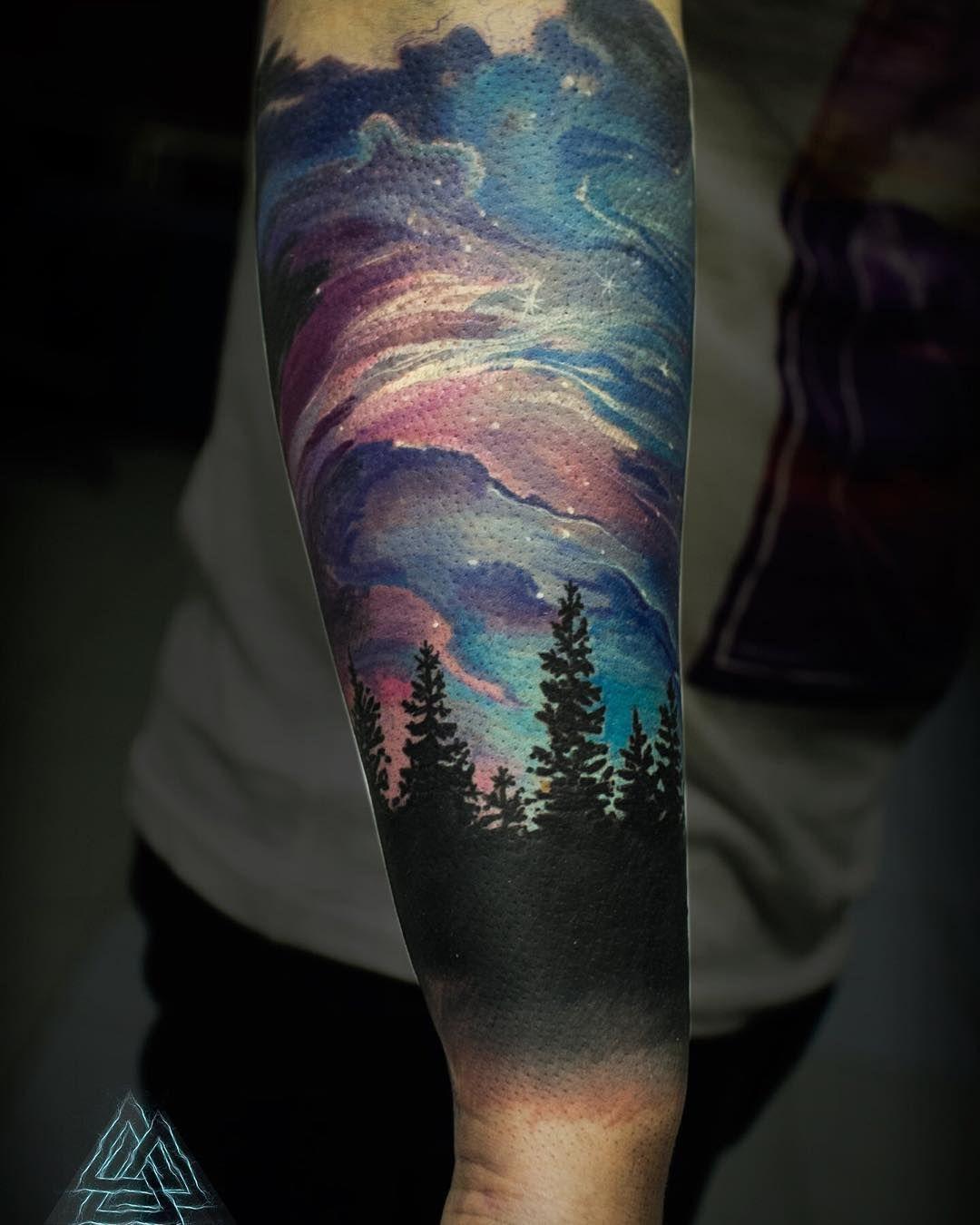 Northern Lights Tattoo Google Search Tattoos Northern Lights