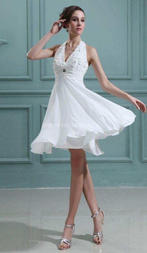 short-white-wedding-dress   The Wedding Etc   Pinterest   White ...