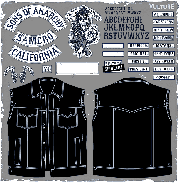 Make Your Own Sons Of Anarchy Leather Jacket Sons Of Anarchy Sons Of Anarchy Costume Sons Of Anarchy Vest