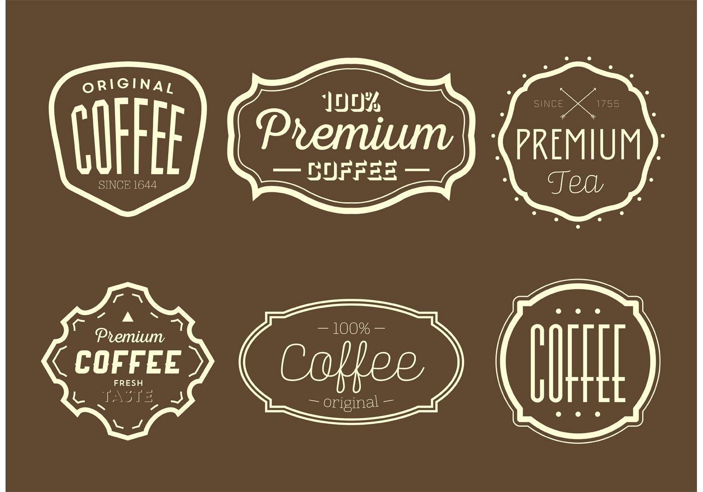 Vintage Coffee and Tea Labels Tea labels, Vintage coffee