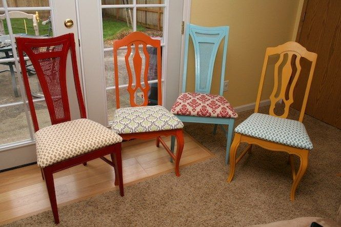Image Of Excellent Dining Chairs Feature Colorful Wood Frame Custom Upholster Dining Room Chairs Decorating Inspiration