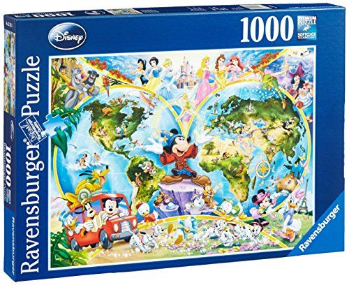 Disney world map 1000 piece jigsaw puzzle featuring the entire disney world map 1000 piece jigsaw puzzle featuring the entire disney family disney princess donald duck mickey mouse peter pan and many more gumiabroncs Images