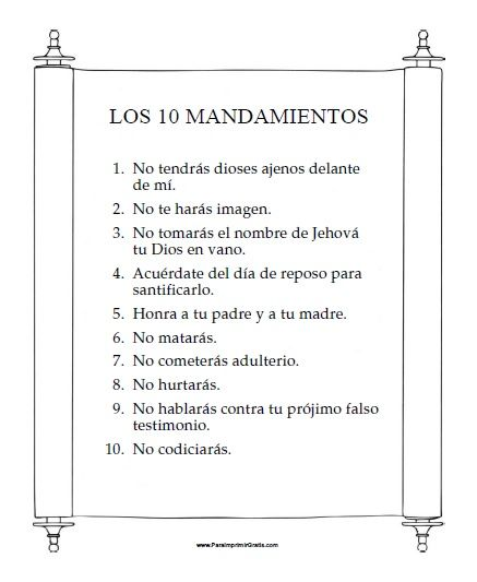 los-diez-mandamientos-para-imprimir-gratis.jpg (437×533) | childrens ...