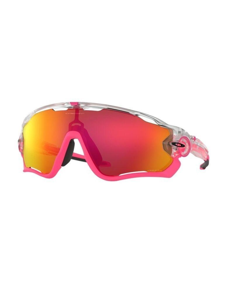 cdf214b5f343 Sunglasses OAKLEY JAWBREAKER 9290-39 Matte Clear Pink Prizm Ruby (eBay Link)
