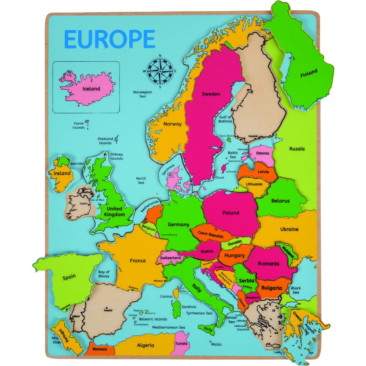 Puzzle Incastru Harta Europei En 2020 Europa