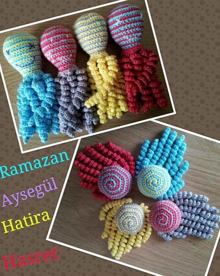 Deze inktvisjes zijn gemaakt  door Meryem Aydin.