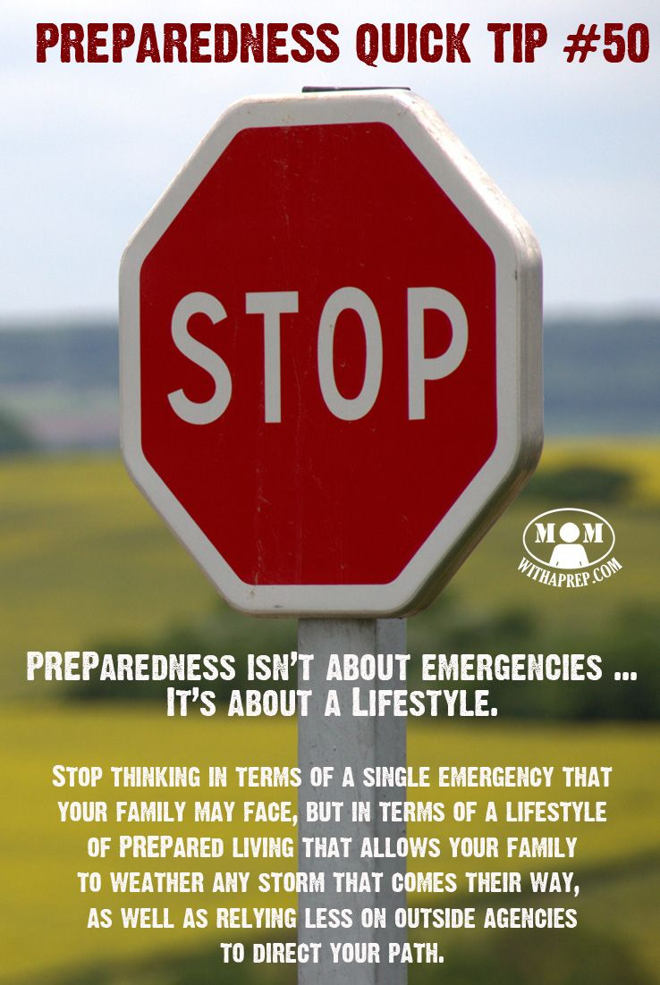 Stop thinking about PREParedness in terms of a single emergency that, but in…