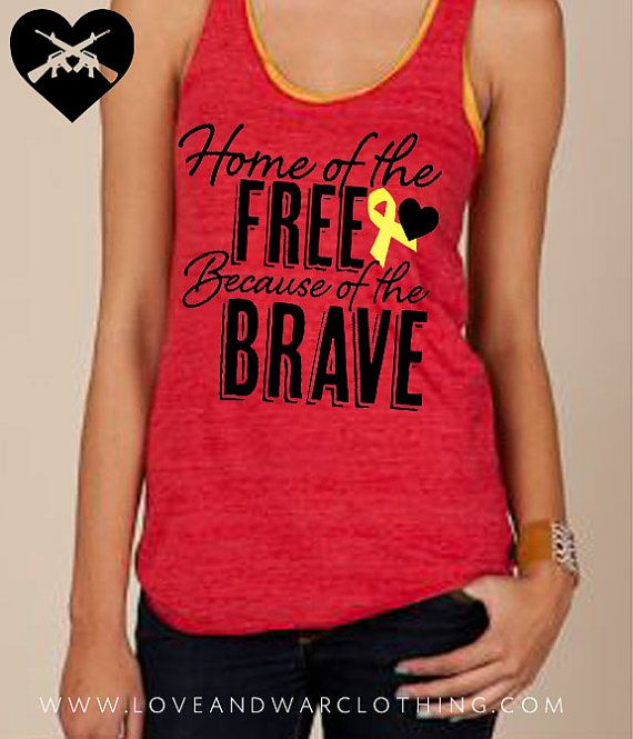 Home of the free because of the brave red eco by Loveandwarco, $23.00