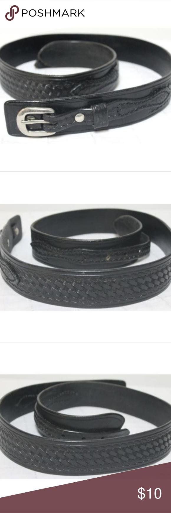 9cf8a99d6 Cabela's Leather Belt Mens Western Over/Under Rang Cabela's Leather Belt  Mens Western Over/Under Ranger sz 36 Tooled Over/under embossed/tooled black  ...