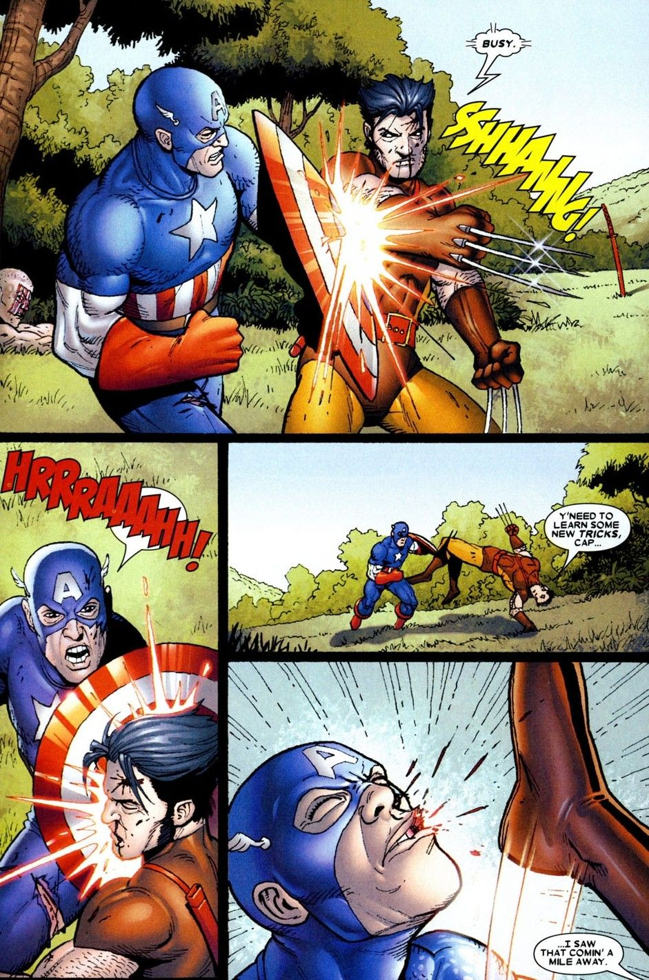 Wolverine Vs Captain America Wolverine Origins4 Marvel