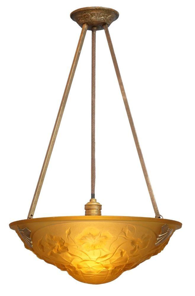 Museale Original Franzsische Jugendstil Empire Deckenleuchte Deckenlampe Degue