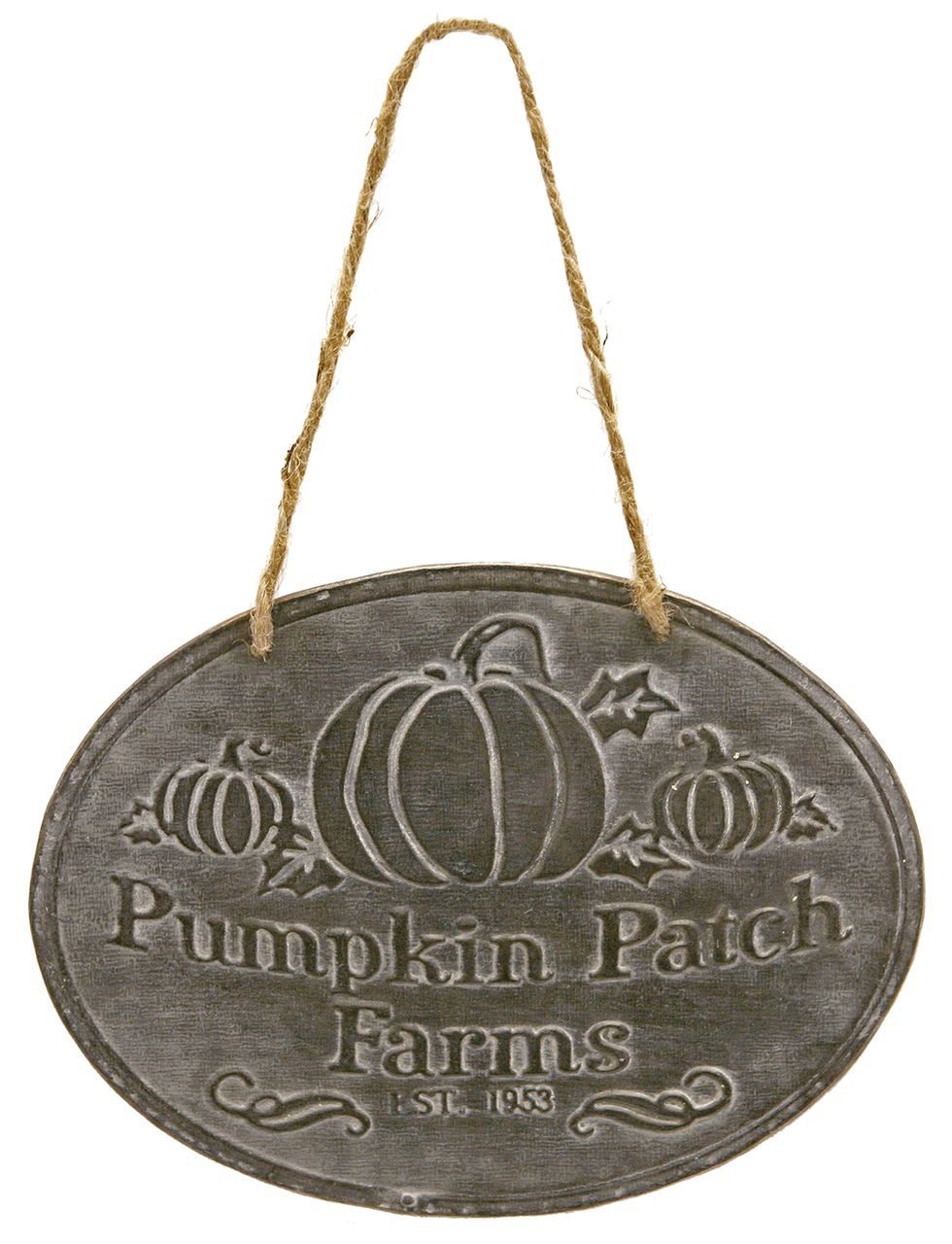 Fall Pumpkin Patch Farms Halloween Sign Embossed Tin Wall