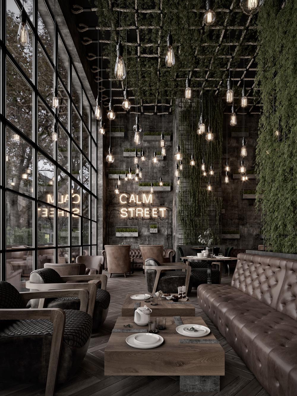 Qatar Calm Street Cafe In 2020 Coffee Shop Interior Design Cafe Interior Vintage Industrial Restaurant Design