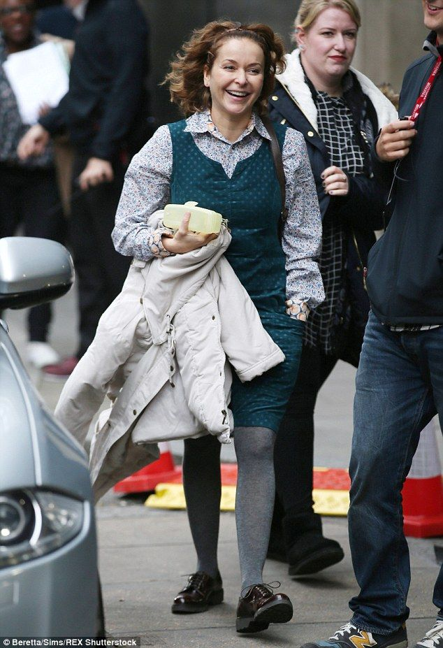 Julia Sawalha Pictured On Ab Fab Movie Set For First Time Ab Fab