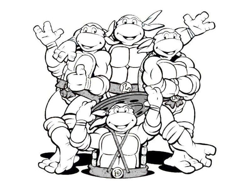 106 dessins de coloriage tortue ninja à imprimer sur LaGuerche.com - Page 10 | Coloriage tortue ...