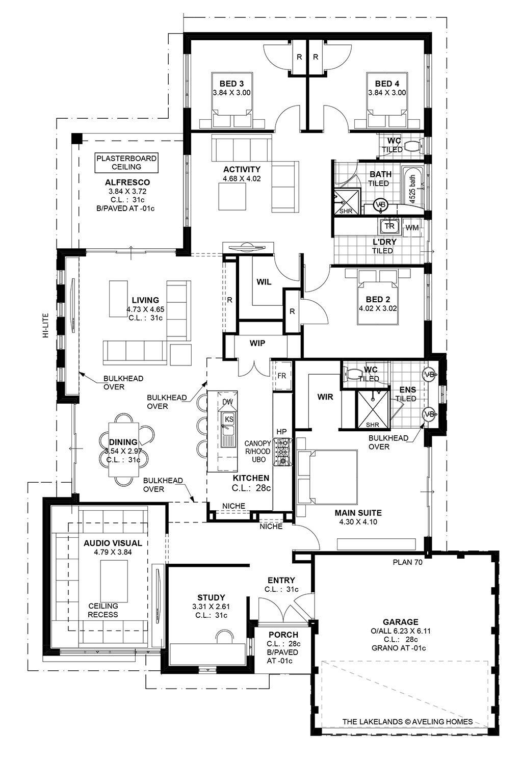 Lakelands S1 Aveling Homes House Plans Australia Home Design Floor Plans Floor Plans