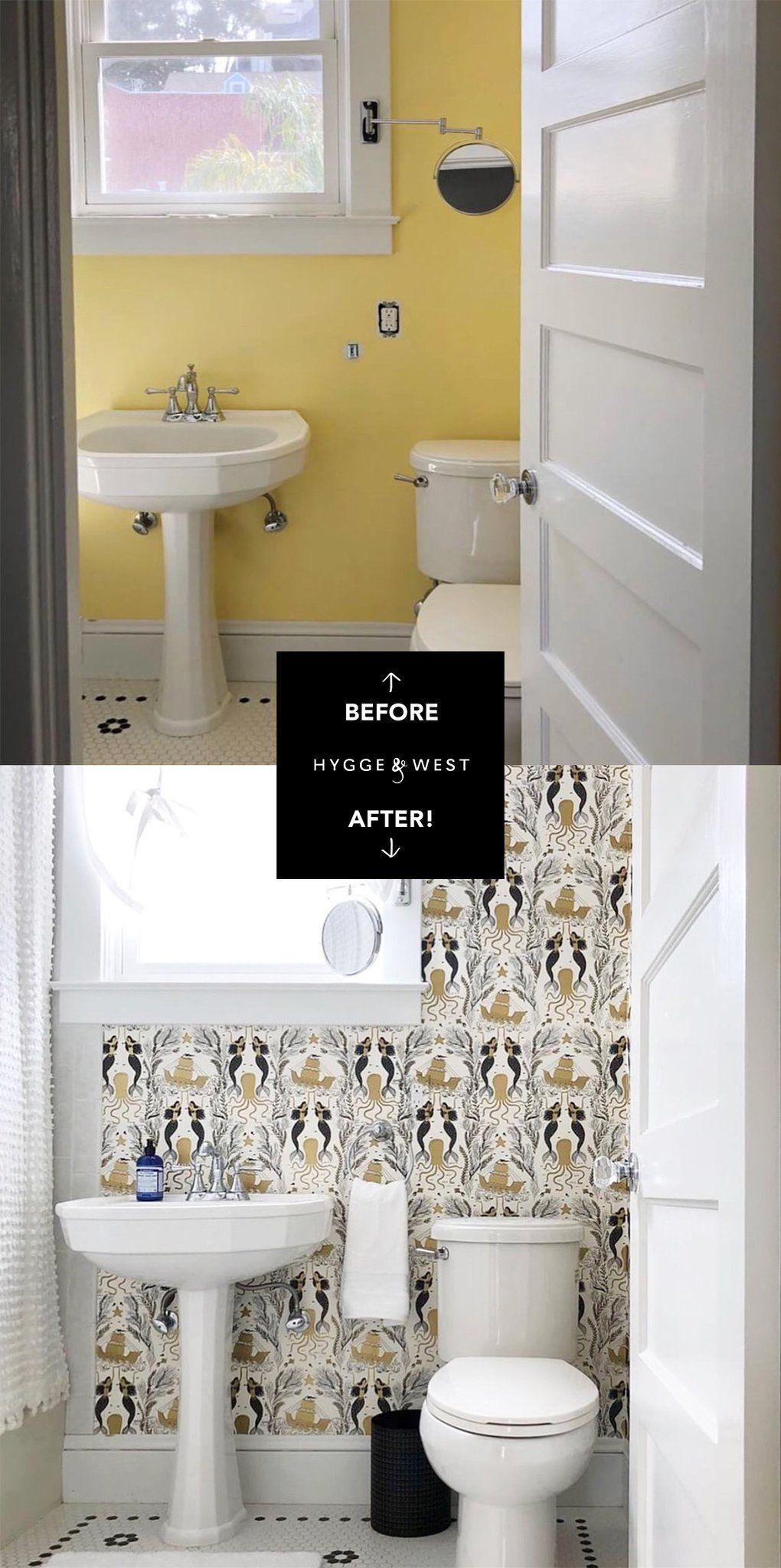 Before After Spring Roundup Bathroom Wallpaper Luxury Tub Bathroom Decor