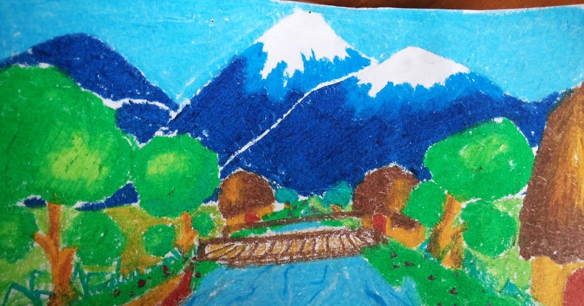Gambar Kolase Pemandangan Gunung Kolase, Gambar, Pemandangan