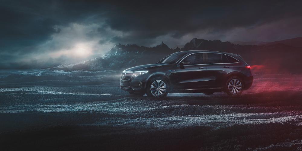 Mercedes Benz Eqc Black Edition On Behance Mercedes Benz Benz Mercedes