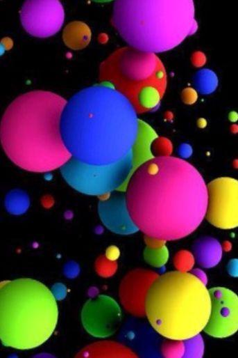 Boules De Couleur Vive Bubbles Wallpaper Colorful Wallpaper Cellphone Wallpaper