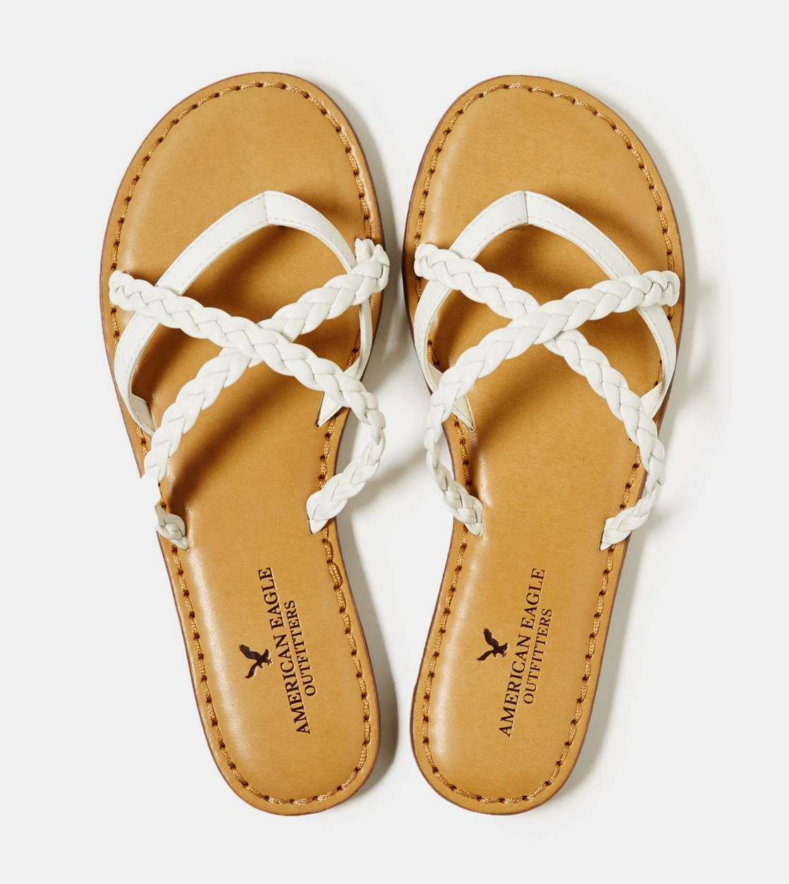 Aeo Strappy Braided Sandal Dream Closet Pinterest