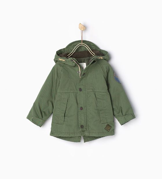 Military Parka with detachable features from Zara - $50 | Little ...