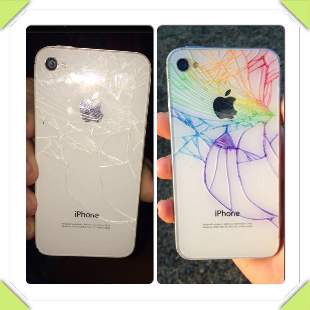 Iphone 4 cracked colored back iphone iphone 4 phone cases