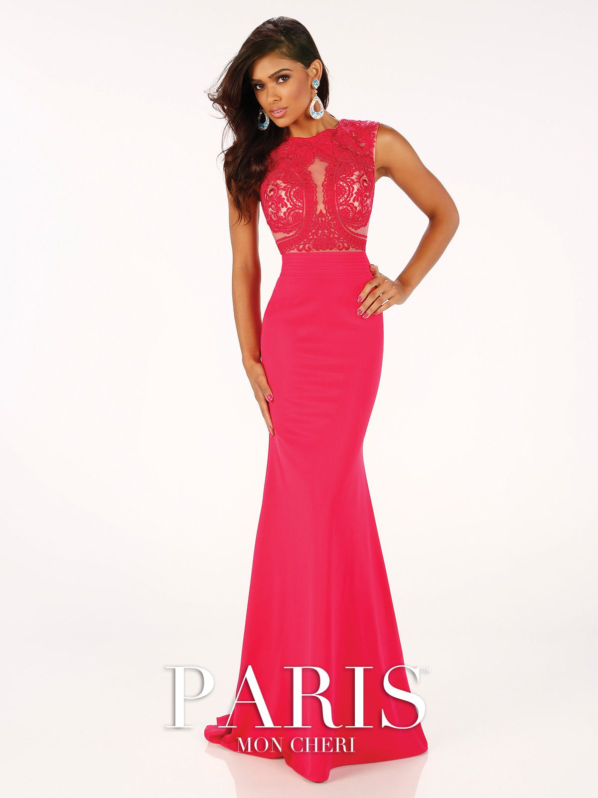 Mon cheri prom paris in a gorgeous hot pink ipaprom mon cheri