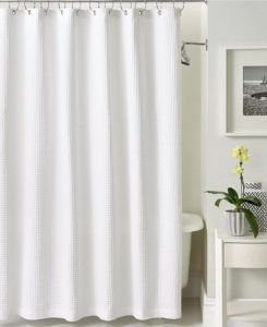Cotton Waffle Shower Curtain Extra Long