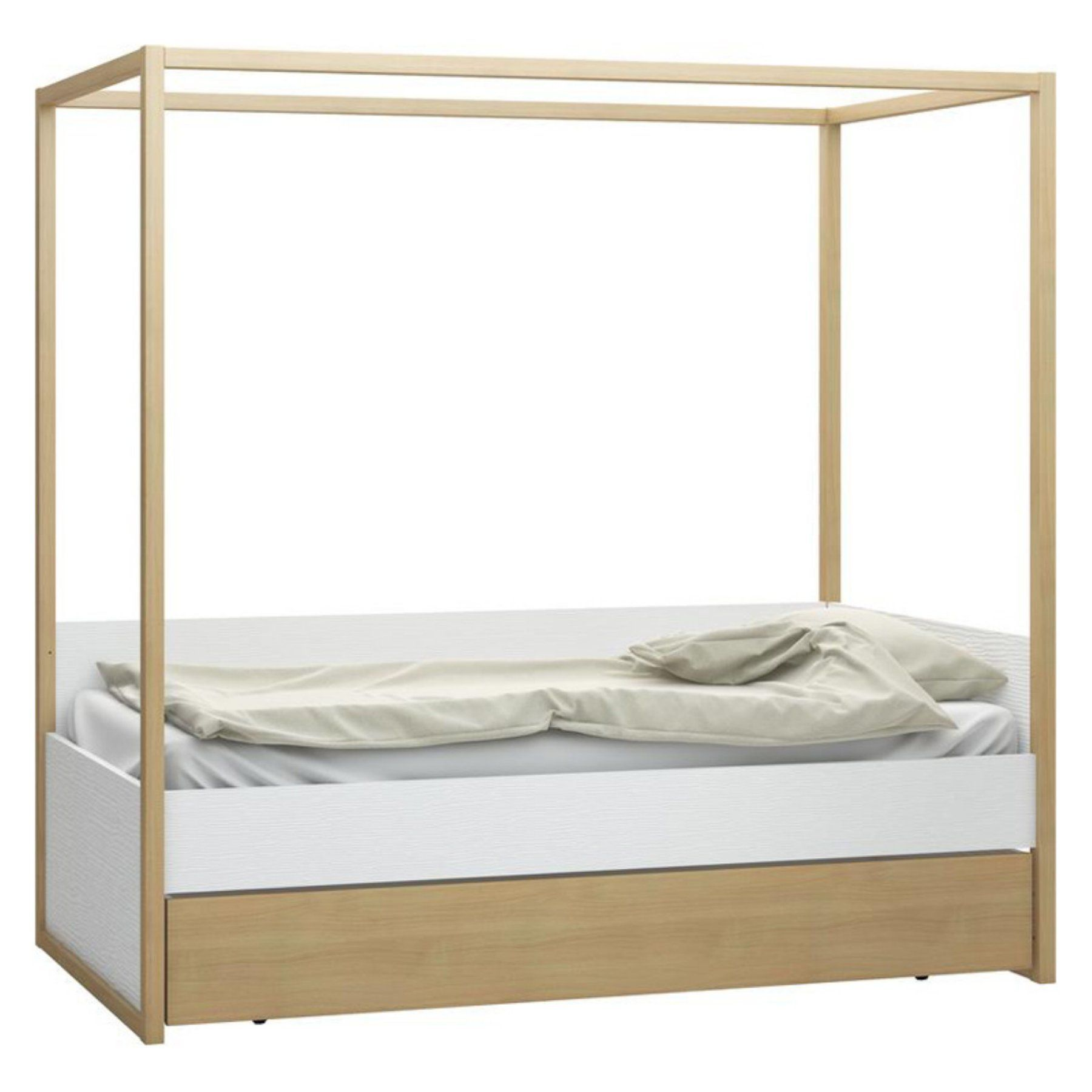 Voelkel 4You Canopy Bed with Underbed Storage Drawer - 4014001+4014005+6015865  sc 1 st  Pinterest & Voelkel 4You Canopy Bed with Underbed Storage Drawer - 4014001+ ...