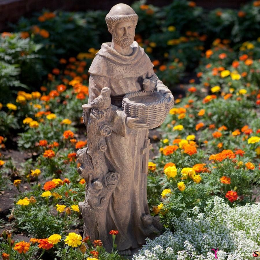 St. Francis Garden Statue Bird Feeder Bring A Little Whimsy To Your  Landscaping With A