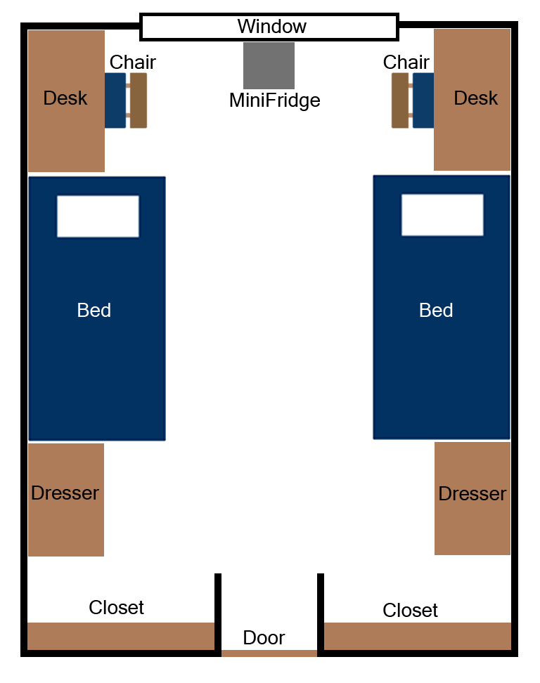 Dorm Room Layouts: Traditional-double.png 768×972 Pixels