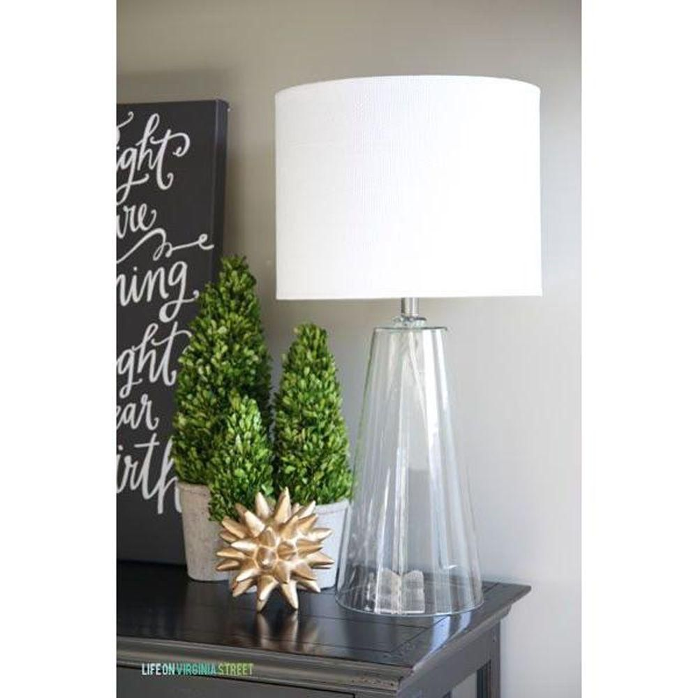 Table Lamps At Home Depot Kenroy Home Boda 29 Inclear Glass Table Lamp  Clear Glass Table