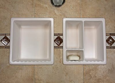 how to put soap dish on tile