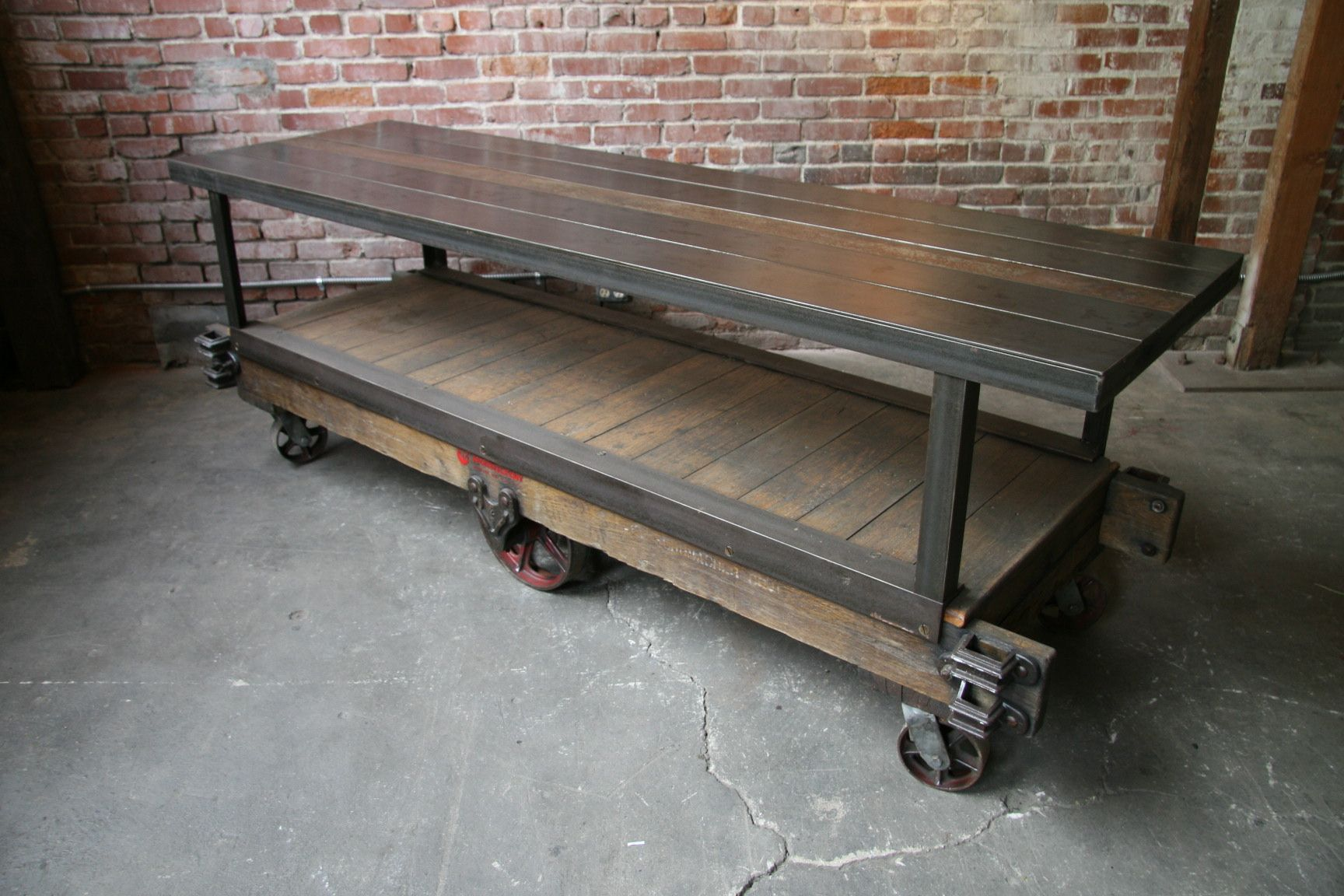 Factory caster vintage industrial furniture - I Want This For A Kitchen Island Or A Work Table In The Studio