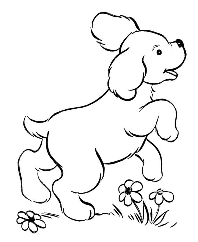 cute puppies jumping coloring page