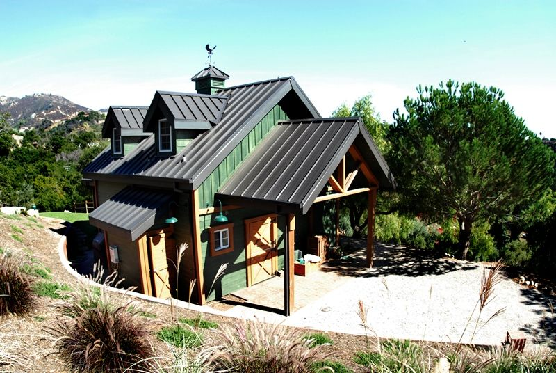 We Built This Barn In Santa Barbara, CA. It Has A Custom Timber Frame ·  Barn With Living QuartersBarn ...