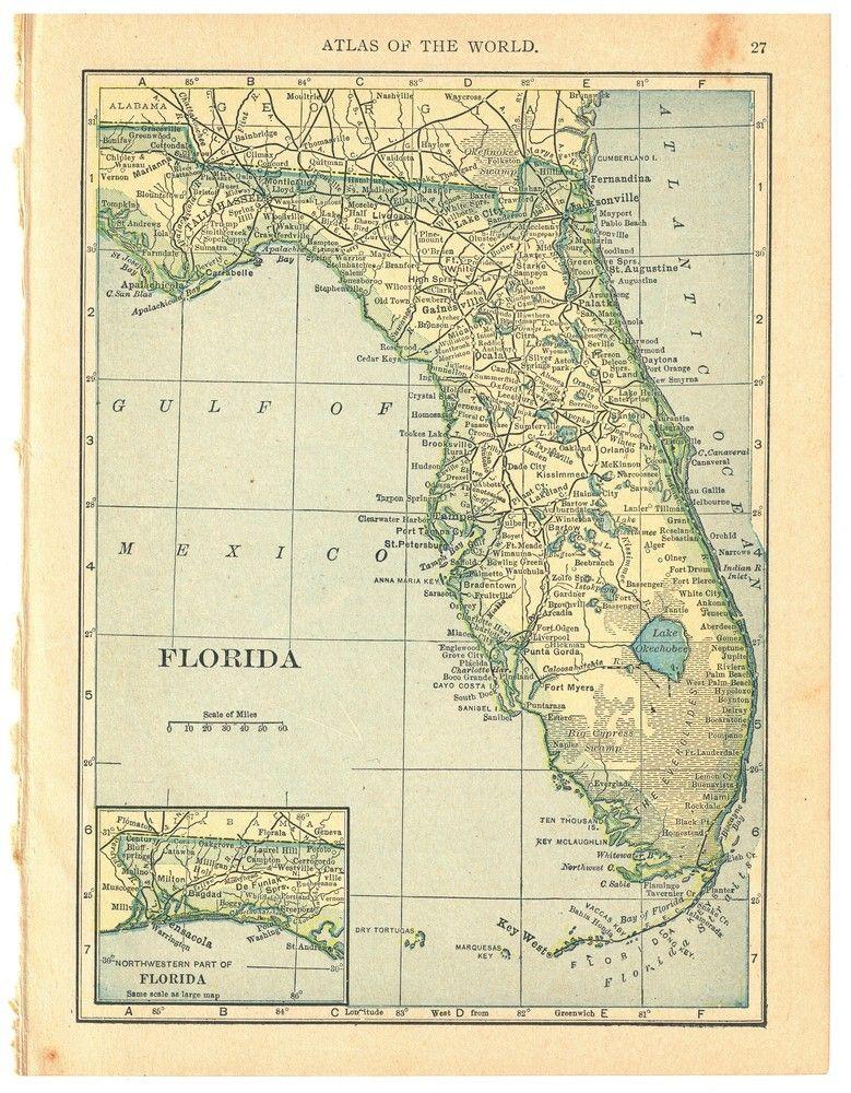 Georgia map on one side and Alabama map on one side - 1908