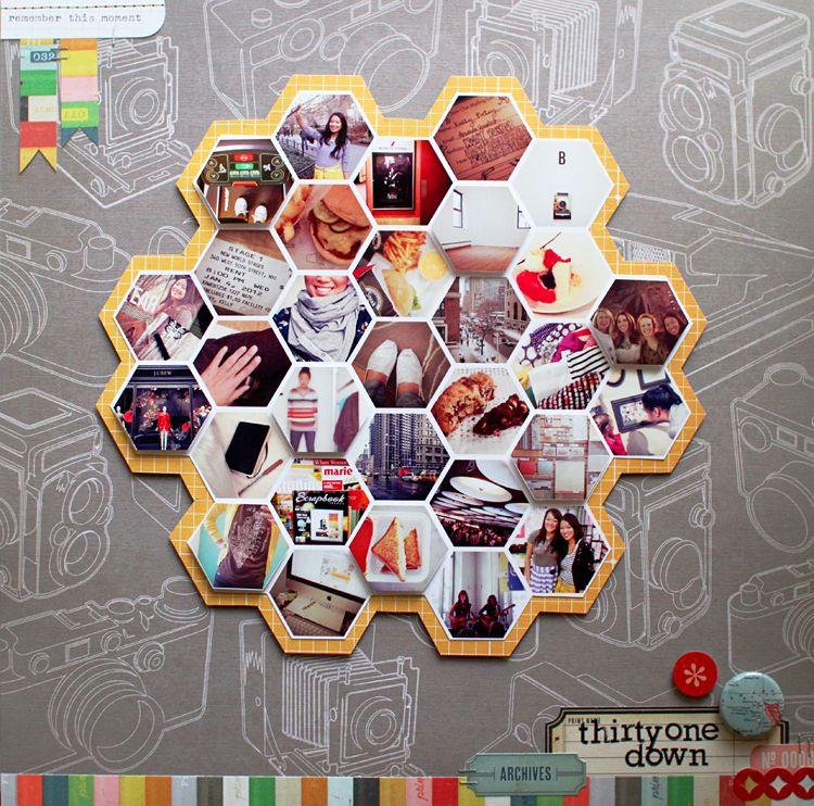 How to make hexagon photos