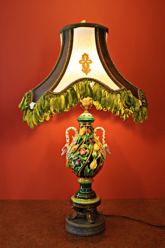 Capodimonte Vintage Lamp With Le Elegance Shade By