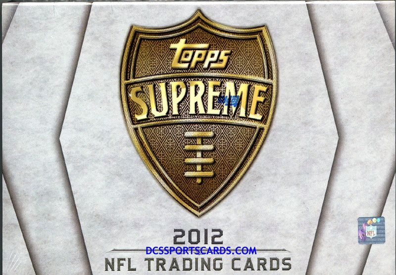 2012 Topps Supreme Football Cards Hobby Box - $86.95