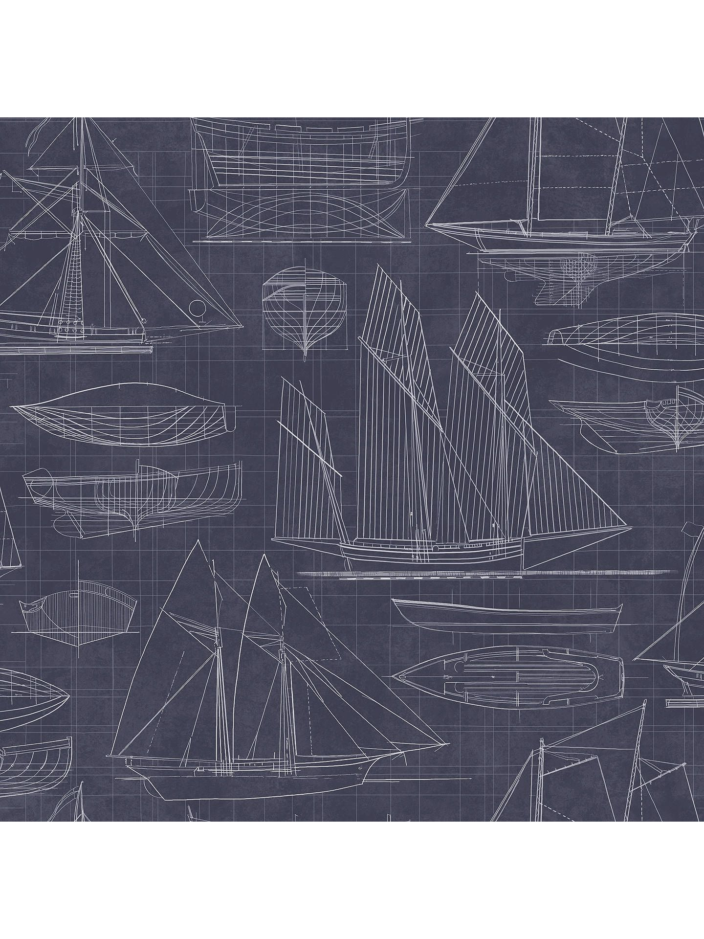 Deauville 2 Nautical Boats White Black Galerie Wallpaper G23323